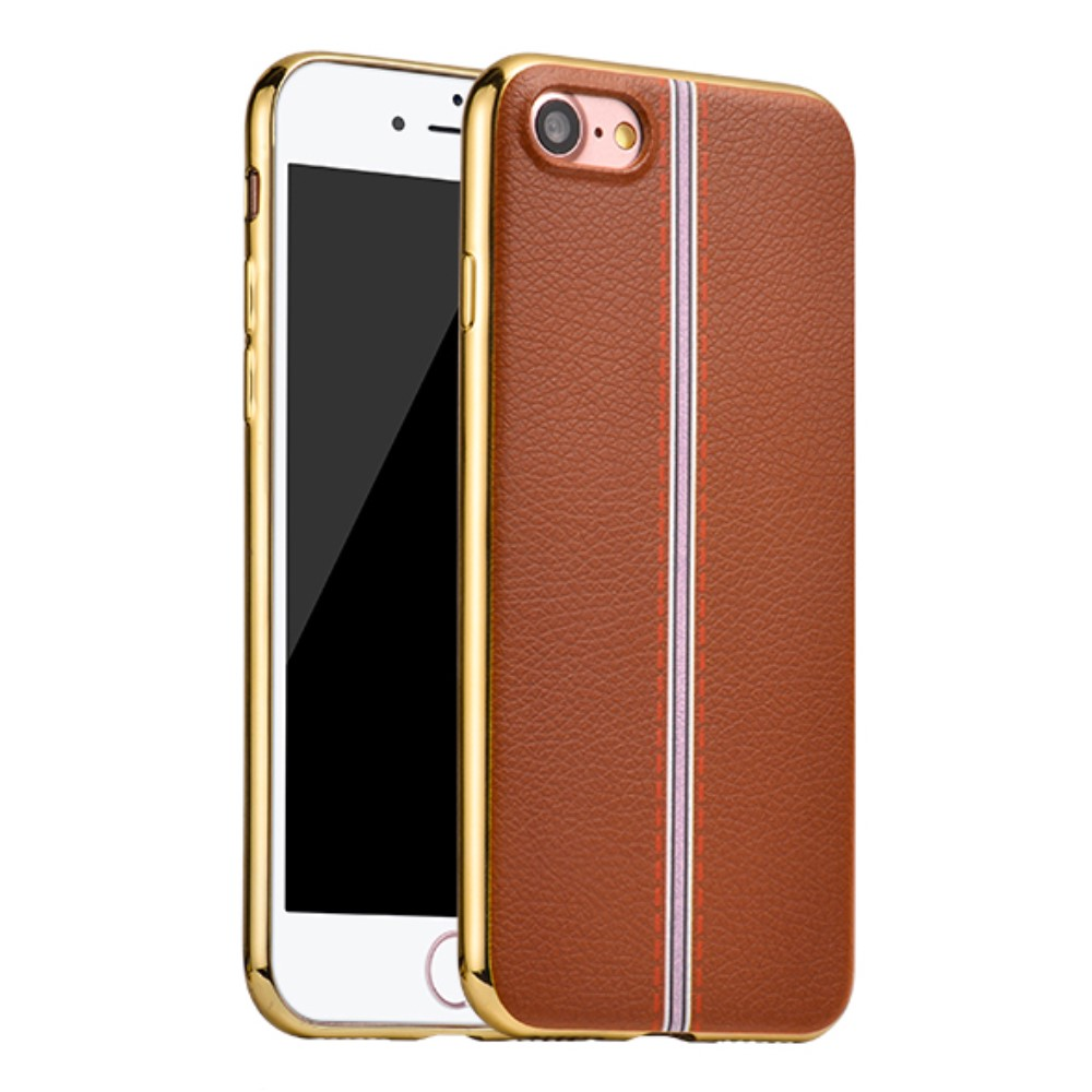Image of   Apple iPhone 7 HOCO Premium TUP/læder Cover - Brun
