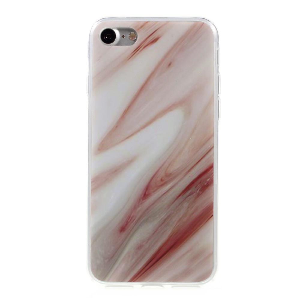 Image of   Apple iPhone 7/8 InCover Marmor TPU Cover - Rød