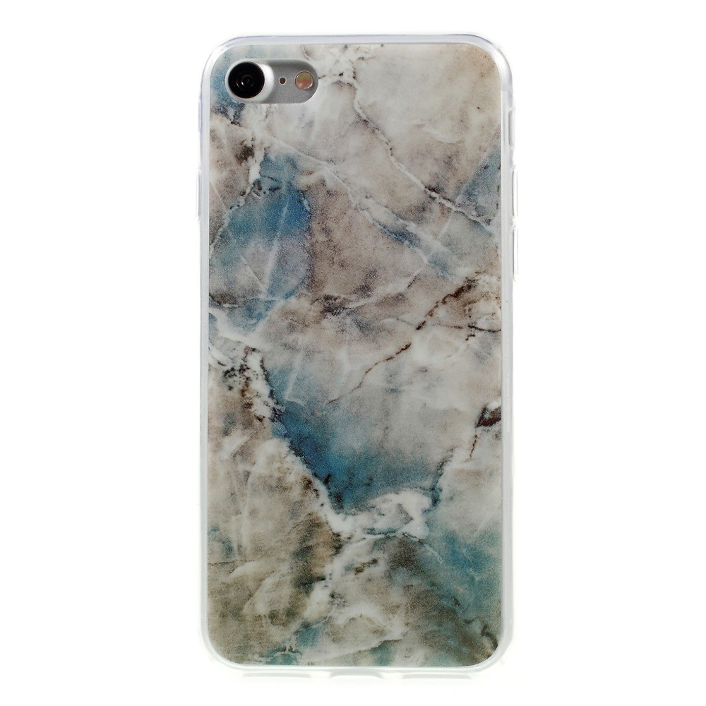 Image of   Apple iPhone 7/8 InCover Marmor TPU Cover - Blå