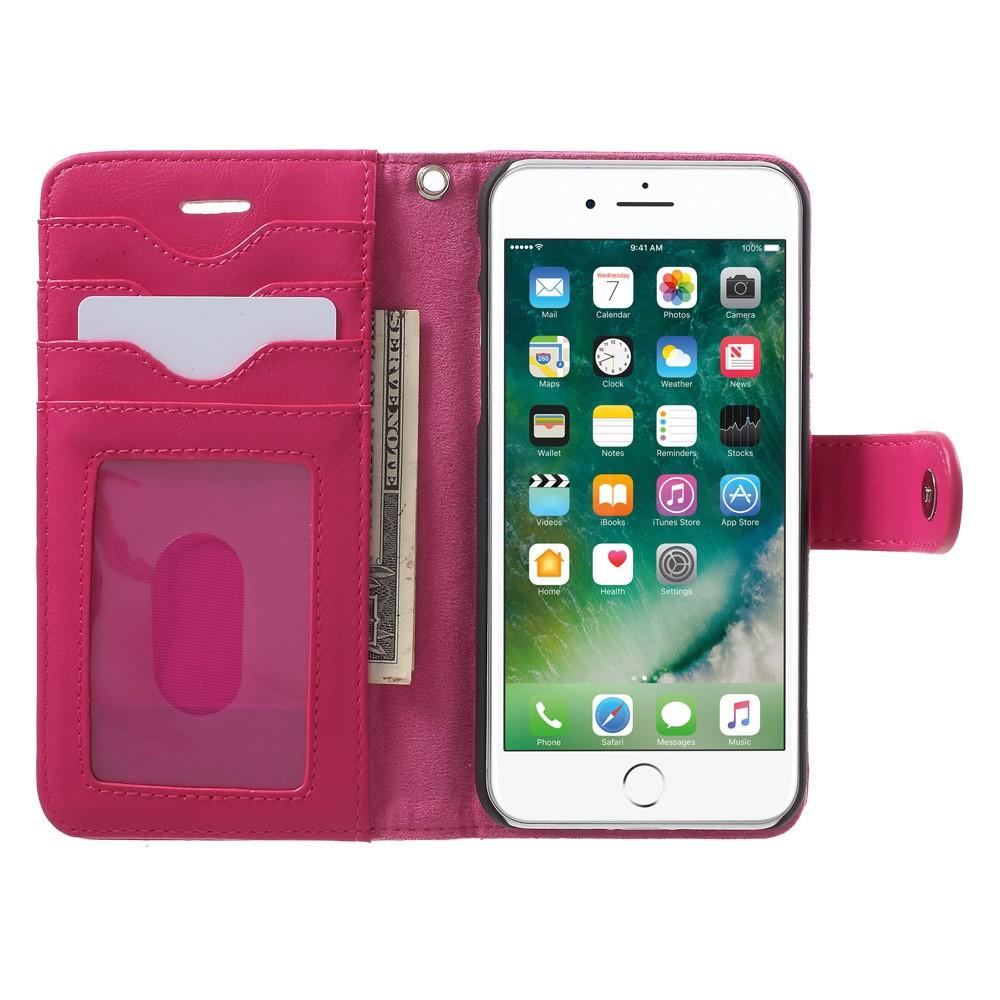 Billede af Apple iPhone 7 2 i 1 Deluxe Flip Cover Med Pung - Rosa