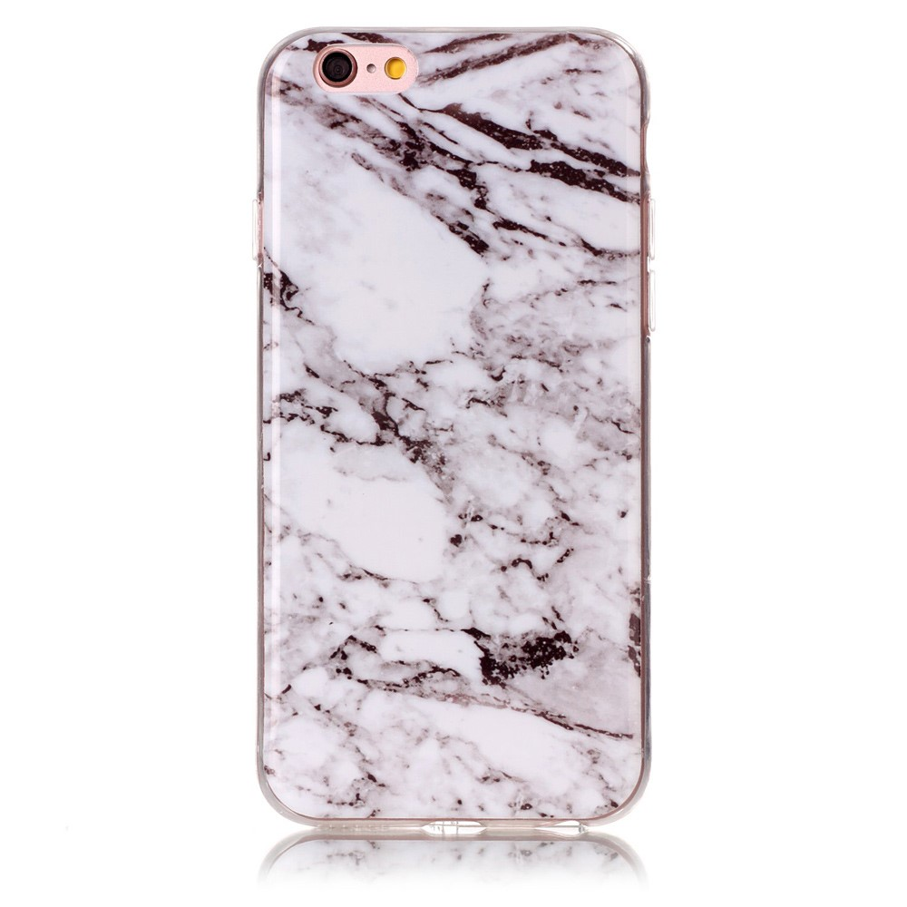 Image of   Apple iPhone 6/6s InCover Premium Marmor TPU Cover - Grå