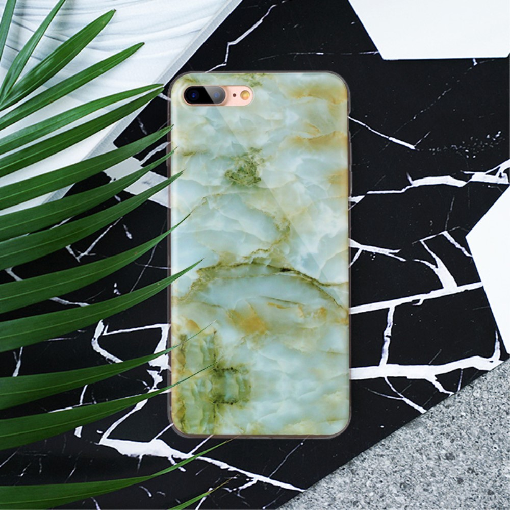 Image of   Apple iPhone 7/8 Plus InCover Premium Marmor TPU Cover - Grøn