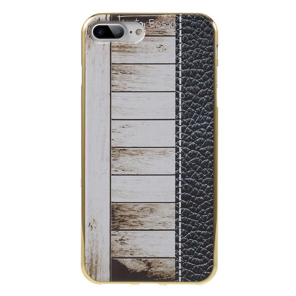 Billede af Apple iPhone 7/8 Plus InCover TPU Cover - Hvid Trætekstur
