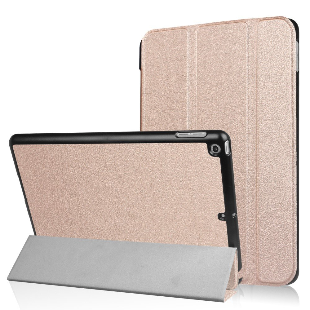 Image of   Apple iPad 9.7 2017/2018 Læder Cover m. Stand - Rosa/guld
