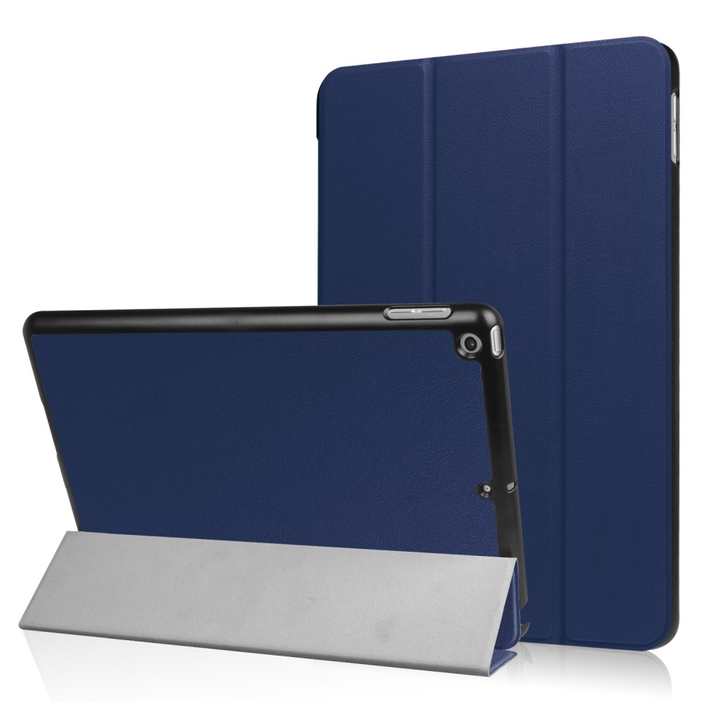 Image of   Apple iPad 9.7 2017/2018 Læder Cover m. Stand - Mørk blå