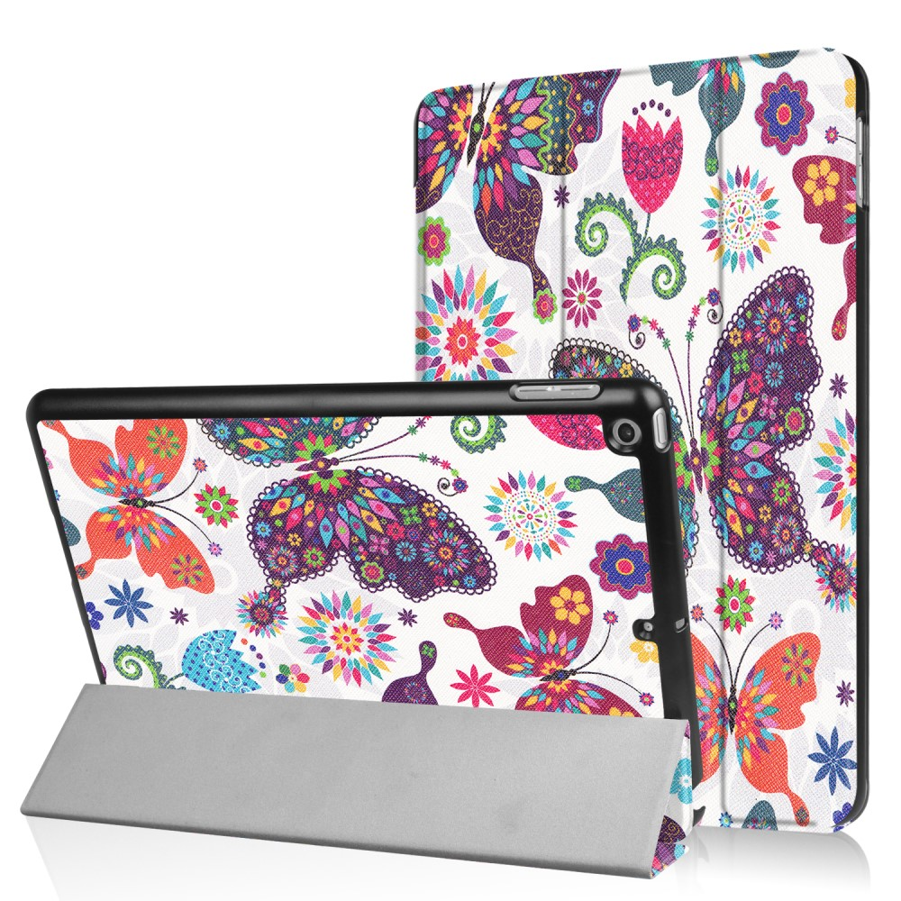 Billede af Apple iPad 9.7 2017/2018 Smart Cover m. Stand - Butterflies and Flowers