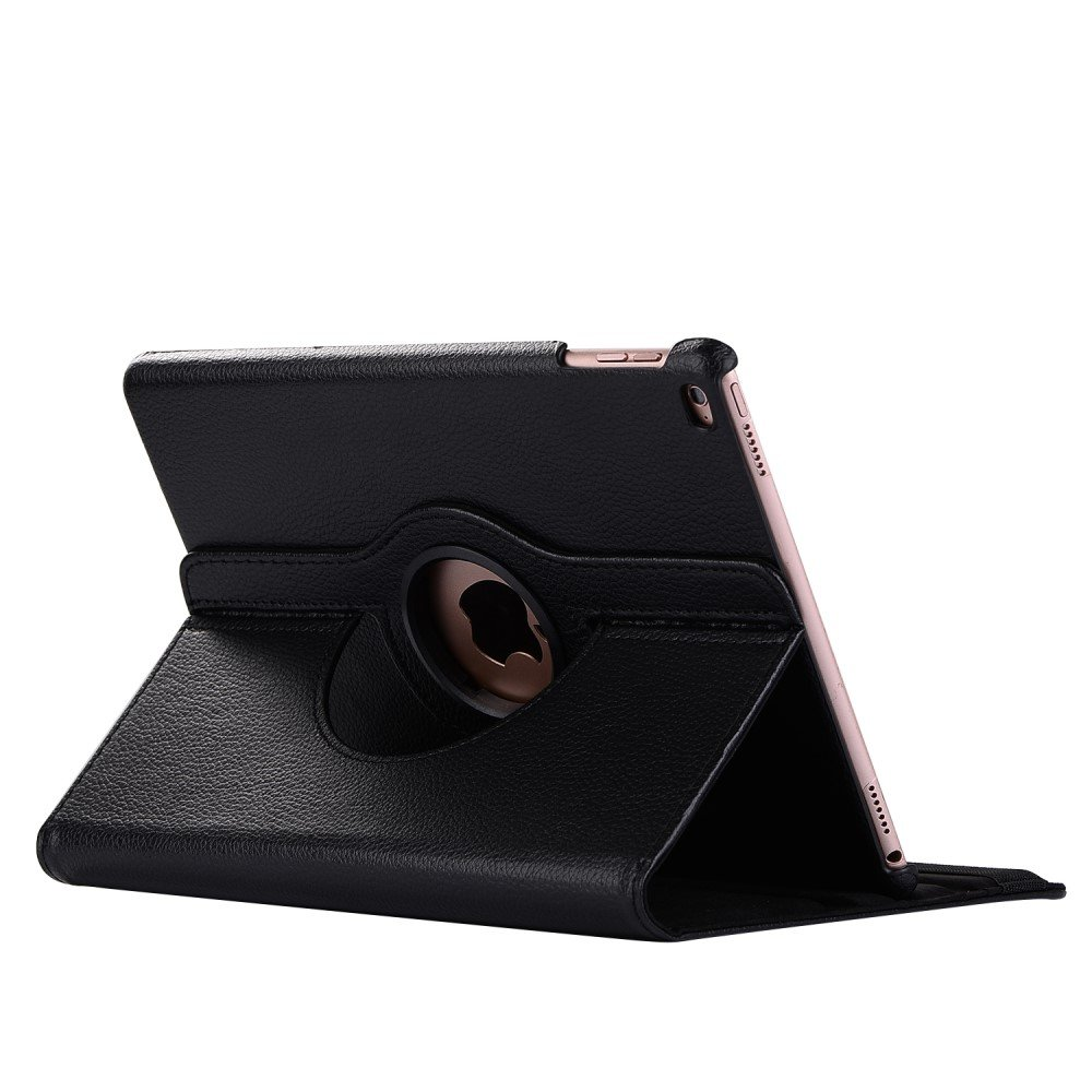 Image of   Apple iPad 9.7 2017/2018 PU Læder Rotating Cover m. Stand - Sort
