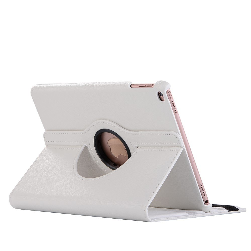 Image of   Apple iPad 9.7 2017/2018 PU Læder Rotating Cover m. Stand - Hvid