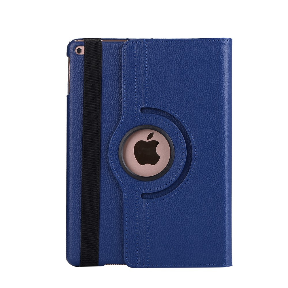 Image of   Apple iPad 9.7 2017/2018 PU Læder Rotating Cover m. Stand - Mørkeblå