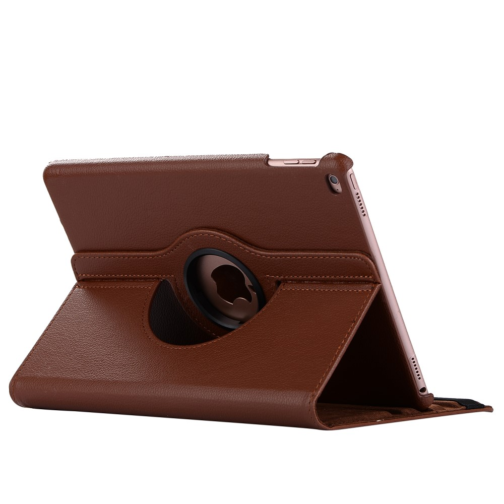 Image of   Apple iPad 9.7 2017/2018 PU Læder Rotating Cover m. Stand - Brun