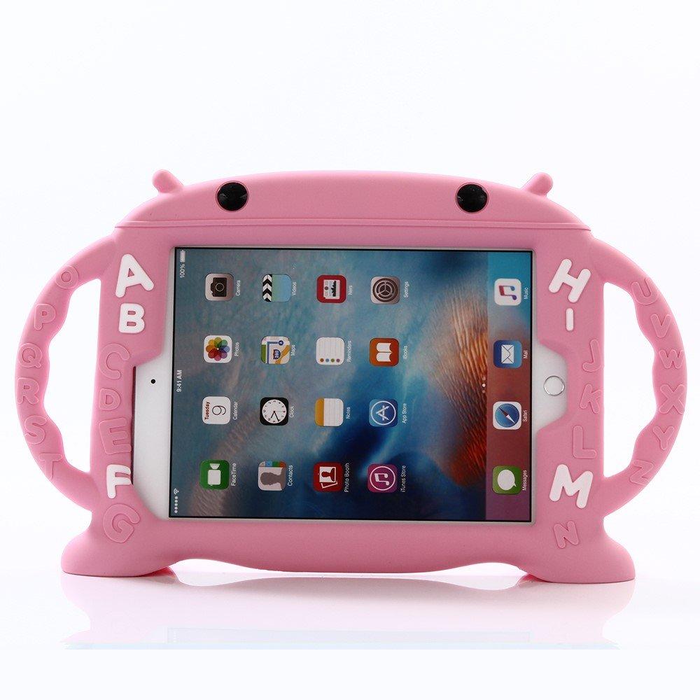 Image of   Apple iPad 9.7 2017/2018 Silikone Cover til Børn - Lyserød