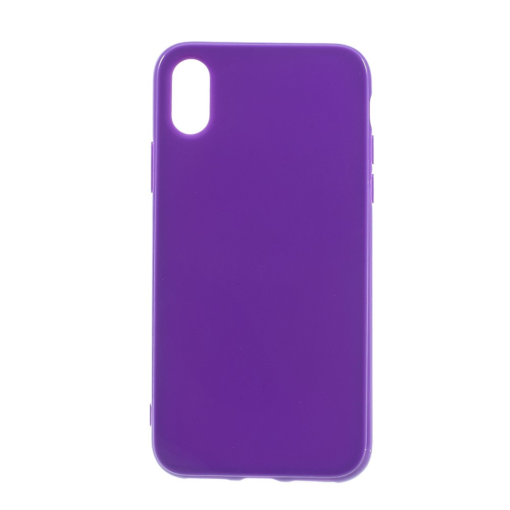 Image of   Apple iPhone X/XS TPU Cover - Mørk lilla