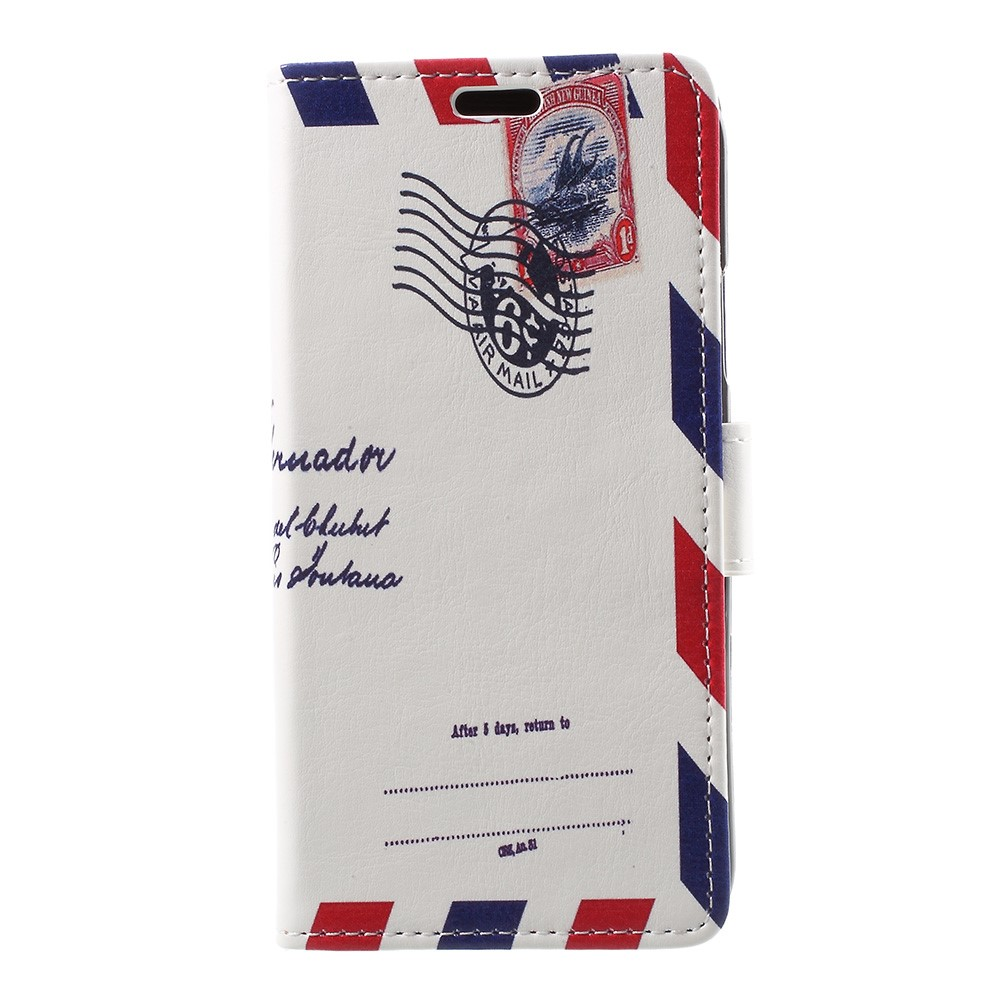 Image of   Apple iPhone X PU læder Flipcover m. Kortholder - Brev