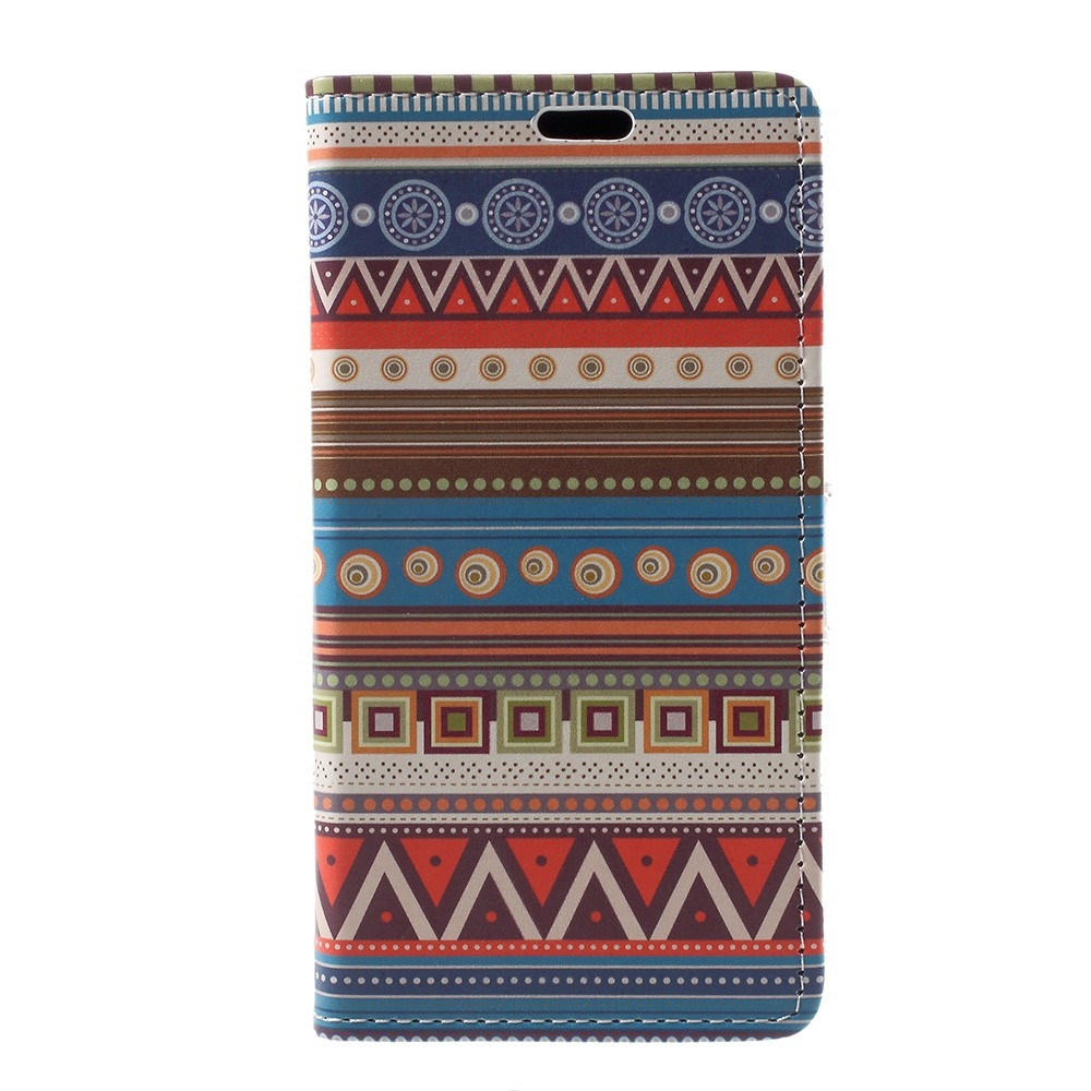 Image of   Apple iPhone X PU læder Flipcover m. Kortholder - Mønster 1