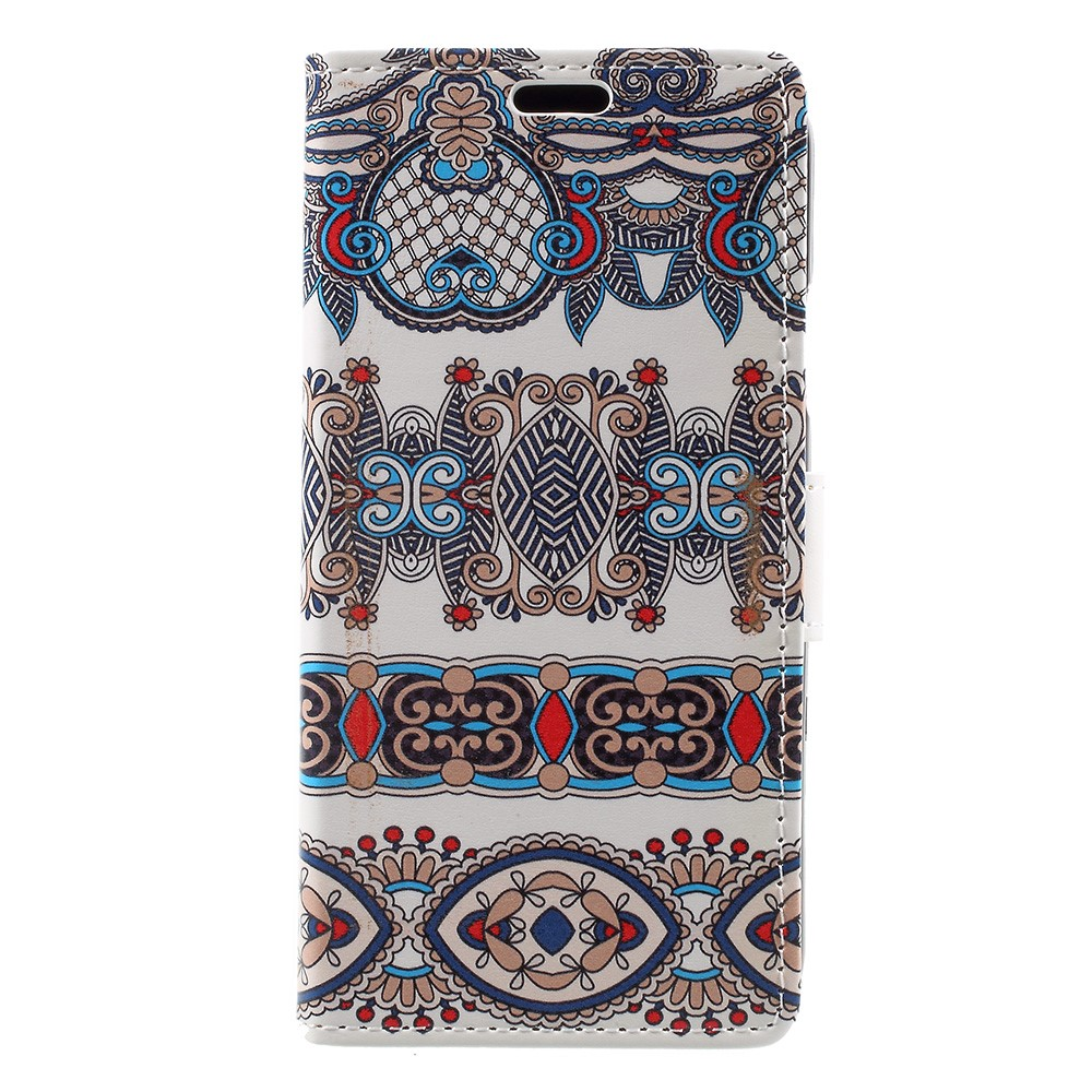 Image of   Apple iPhone X PU læder Flipcover m. Kortholder - Mønster 6