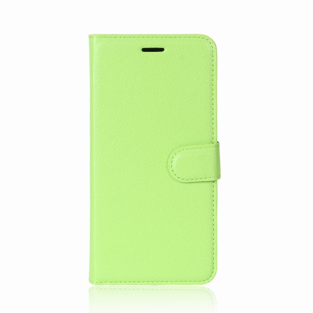 Image of   Apple iPhone X Litchi Flip Cover m. Kortholder - Grøn