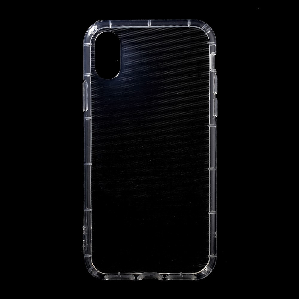 Image of   Apple iPhone X TPU Hybrid Anti-Slip Cover - Gennemsigtig