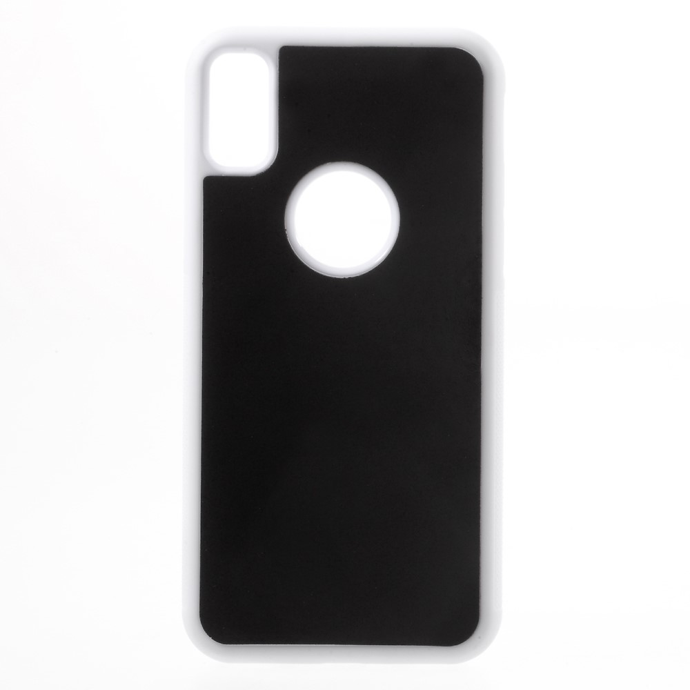 Image of   Apple iPhone X/XS Anti-Gravity TPU Cover - Hvid/æble