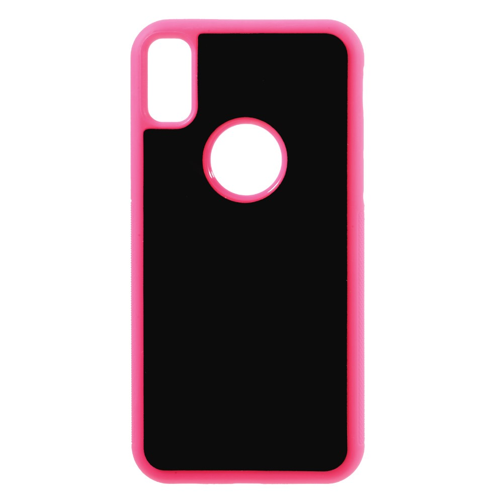 Image of   Apple iPhone X/XS Anti-Gravity TPU Cover - Pink/æble