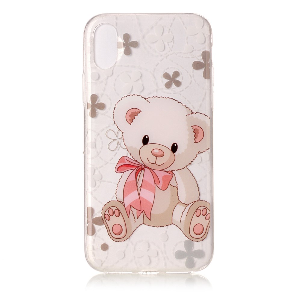 Image of   Apple iPhone X/XS TPU Cover - Sød Bamse