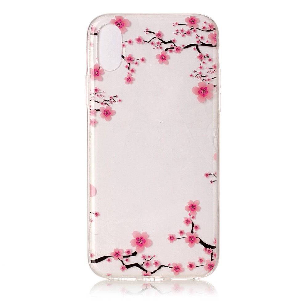 Image of   Apple iPhone X/XS TPU Cover - Ferskenblomster