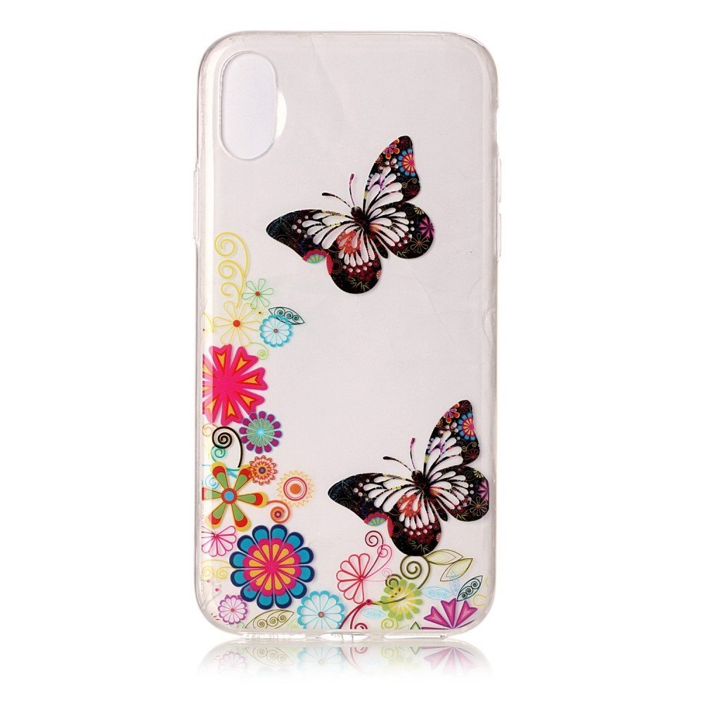 Image of   Apple iPhone X inCover TPU Cover - Sommerfugle og Blomster