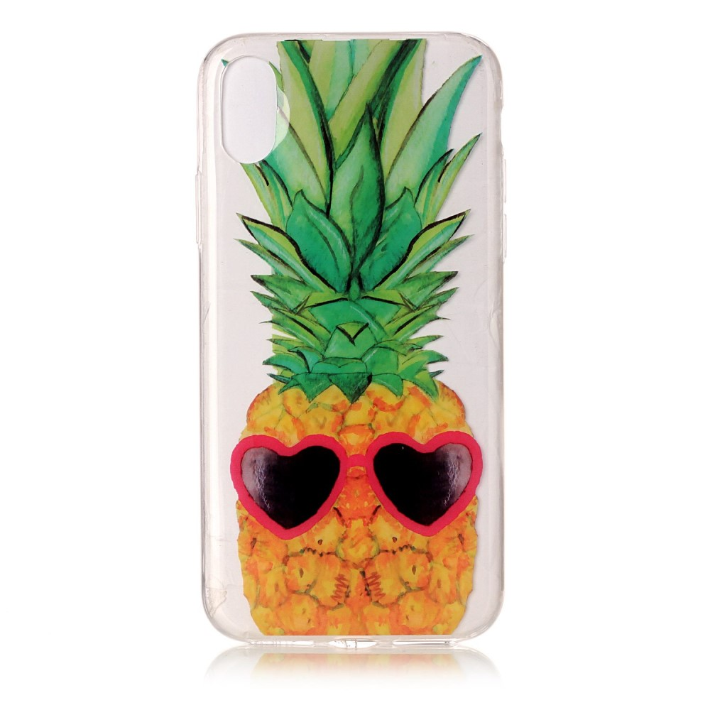 Image of   Apple iPhone X/XS TPU Cover - Ananas