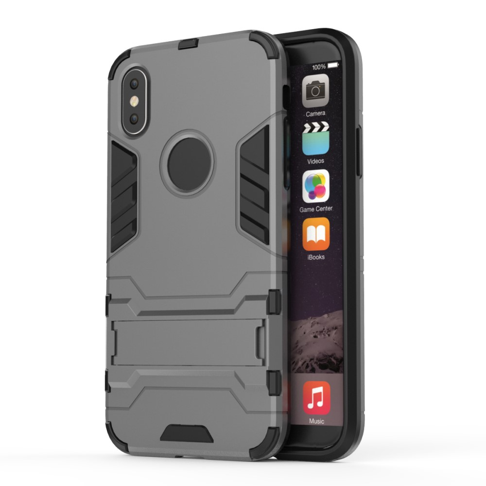 Billede af Apple iPhone X inCover TPU Hybrid Cover m. Stand - Grå