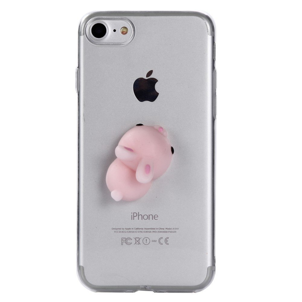 Image of   Apple iPhone 7/8 TPU Cover m. Silikone Figur - Kanin