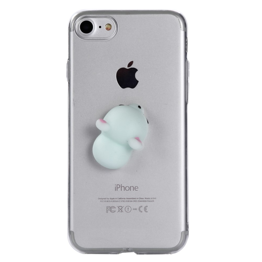 Image of   Apple iPhone 7/8 TPU Cover m. Silikone Figur - Bamse