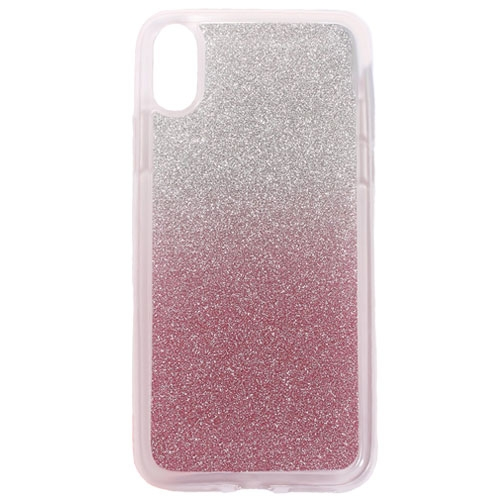 Image of   Apple iPhone X/XS TPU Cover m. Glimmer - Pink