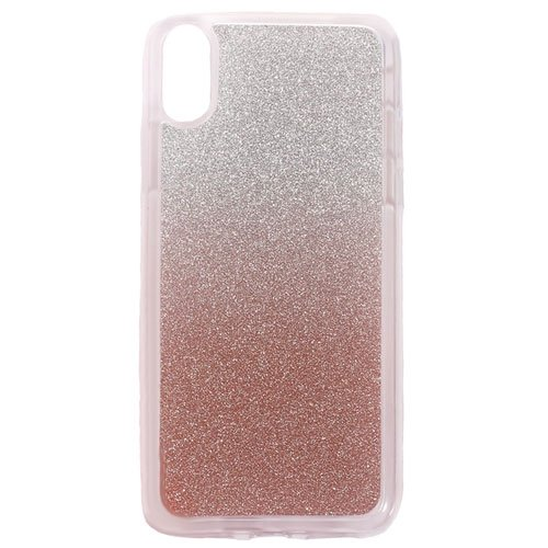 Image of   Apple iPhone X/XS TPU Cover m. Glimmer - Rosaguld
