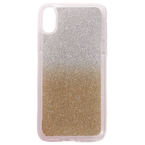 Image of   Apple iPhone X/XS TPU Cover m. Glimmer - Guld