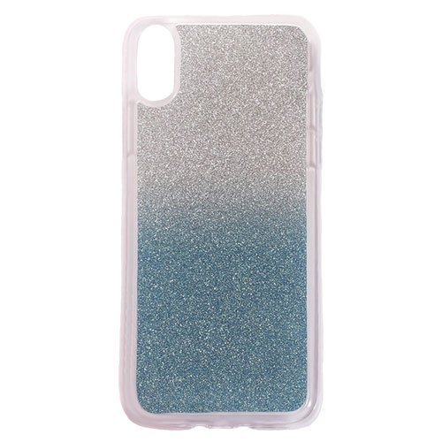 Image of   Apple iPhone X/XS TPU Cover m. Glimmer - Blå
