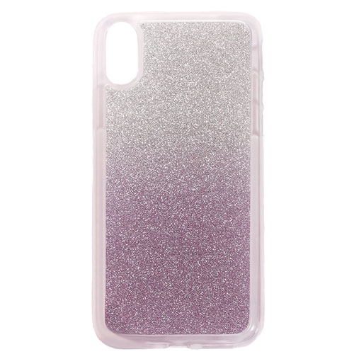 Image of   Apple iPhone X/XS TPU Cover m. Glimmer - Lys lilla