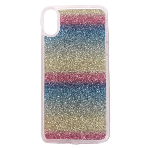 Image of   Apple iPhone X/XS TPU Cover m. Glimmer - Horisontale Striber