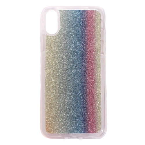 Image of   Apple iPhone X/XS TPU Cover m. Glimmer - Vertikale Striber
