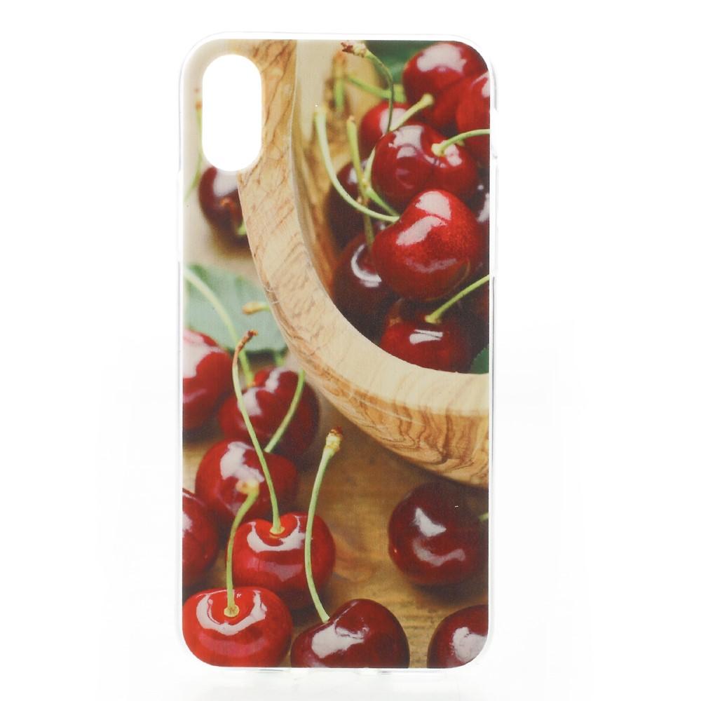 Apple iPhone X inCover TPU UV Print Cover - Kirsebær