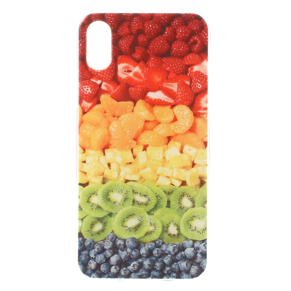 Apple iPhone X inCover TPU UV Print Cover - Frugt