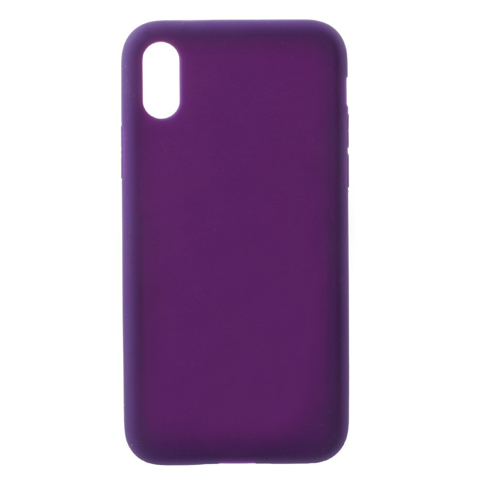 Image of   Apple iPhone X/XS Silikone Cover - Lilla