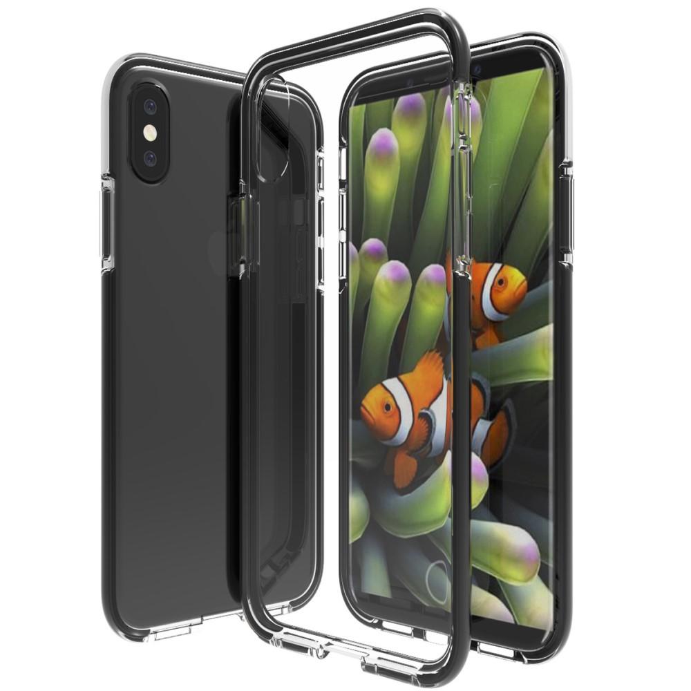 Image of   Apple iPhone X inCover Slim Hybrid Cover - Sort/Gennemsigtig