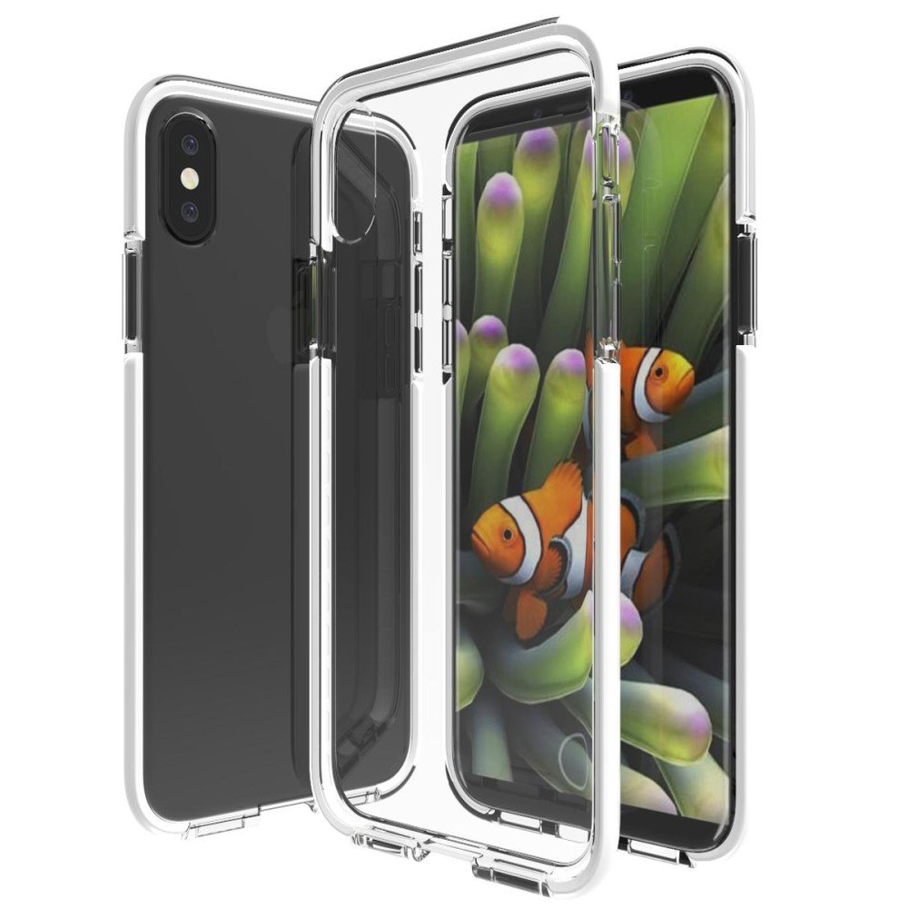 Billede af Apple iPhone X inCover Slim Hybrid Cover - Hvid/Gennemsigtig