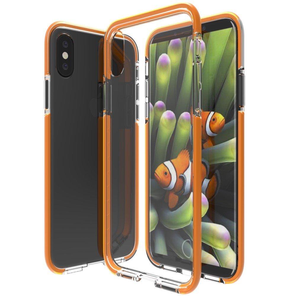 Image of   Apple iPhone X inCover Slim Hybrid Cover - Orange/Gennemsigtig