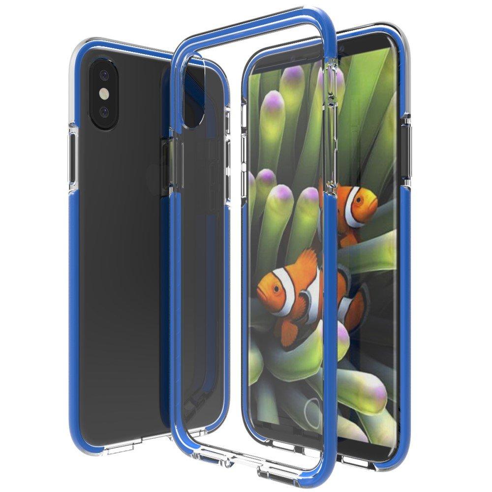 Image of   Apple iPhone X inCover Slim Hybrid Cover - Blå/Gennemsigtig