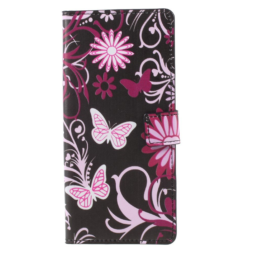 Image of   Samsung Galaxy Note 8 PU læder Flipcover m. Kortholder - Butterfly Flower