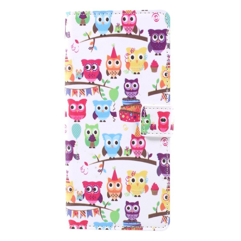 Image of   Samsung Galaxy Note 8 PU læder Flipcover m. Kortholder - Adorable Owls