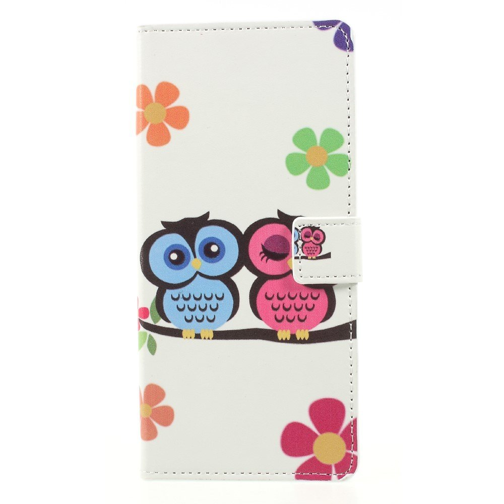 Image of   Samsung Galaxy Note 8 PU læder Flipcover m. Kortholder - Sweet Owl Lovers