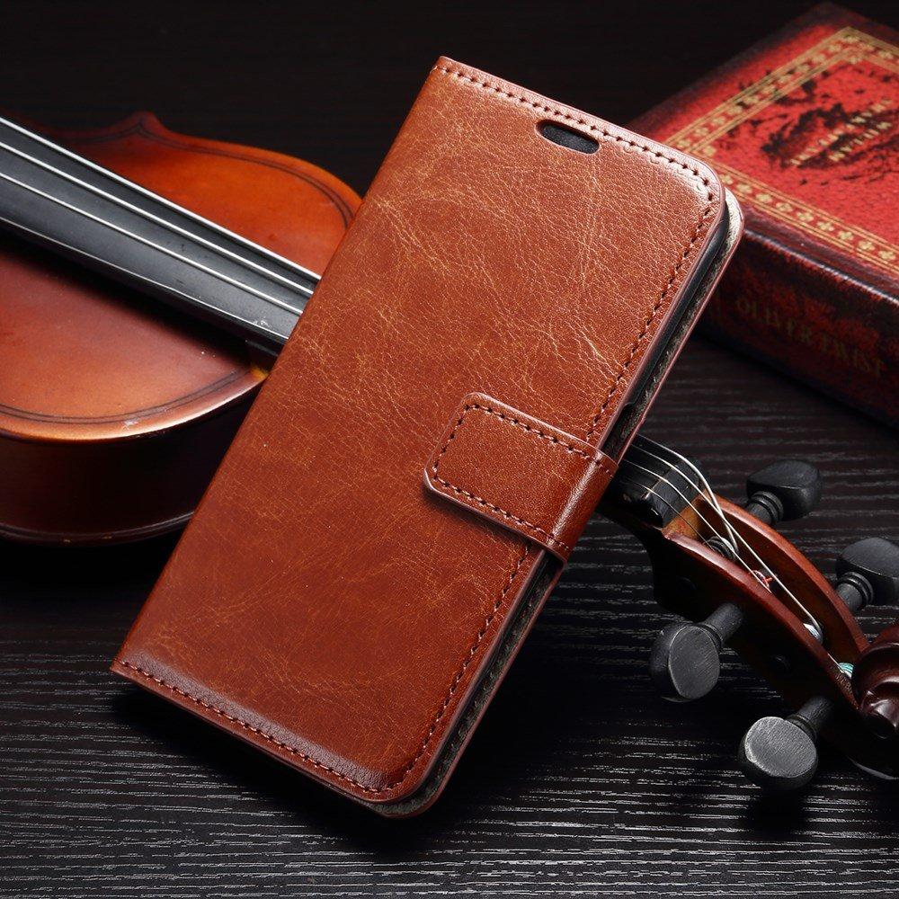 Billede af Samsung Galaxy S7 Edge Smart Flip Cover m. stand og kortholder - Brun