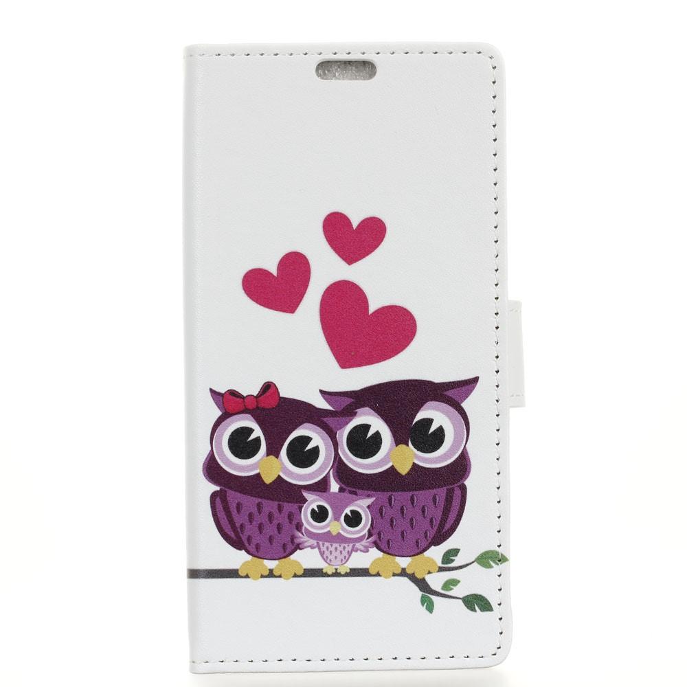 Billede af Samsung Galaxy S9 PU læder Flipcover m. Kortholder - Owls
