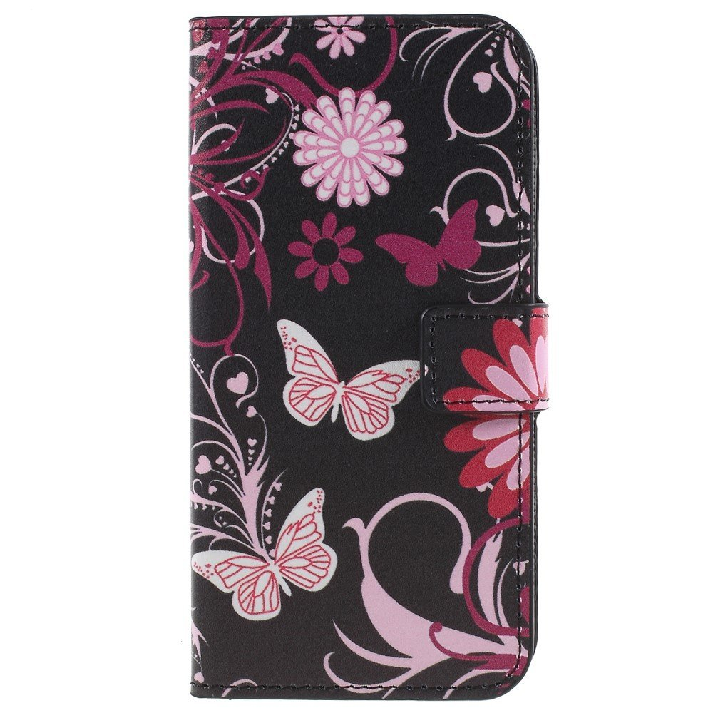 Billede af Samsung Galaxy S9 PU læder Flipcover m. Kortholder - Butterfly Flower